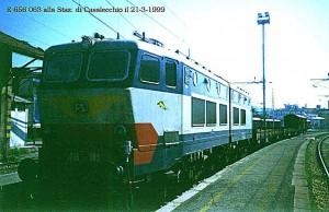 Una E656 a Casalecchio, il 21 marzo 1999