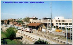 11 aprile 2003: ultima ALe 642 Bologna-Marzabotto sul primo binario