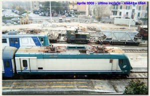 Aprile 2003: ultimo incrocio ALe 642 e E464.
