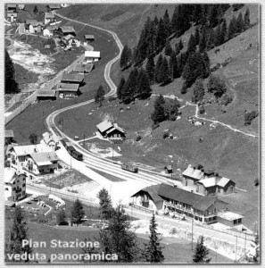 La stazione di Plan - Panoramica - Estate 1952 Foto W. Planinschek