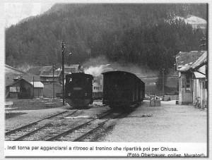 """Foto tratta dal libro """"Ricordi ferrotranviari di viaggi per le Dolomiti"""" di P.Muscolino che contiene altre interessanti immagini."""