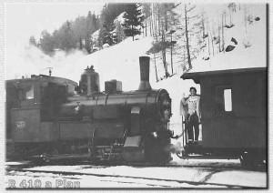 La R 410 in partenza da Plan - Inverno 1953 ??