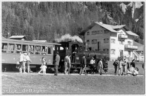 La fermata di Selva (dettaglio) - Estate 1952 Foto W. Planinschek