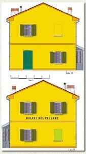 Disegno delle pareti laterali