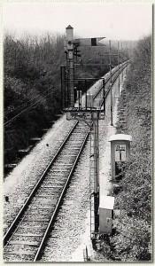 1962 - Segnale ad ala nei pressi della stazione di Casalecchio di Reno (lato Porretta).