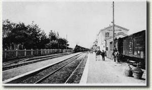 La stazione nei primi anni del '900