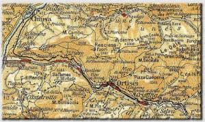 LA LINEA (carta TCI - Ed 1952)