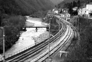 Veduta d'insieme della stazione nel 1982