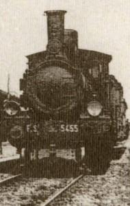 Locomotiva F.S. 5455 proveniente da Rimini - Anno 1913